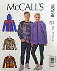MCCALL' S PATTERN TOP & JACKETS FITTED UNISEX SIZE S-M-L or XL-XXL- XXXL # M7298
