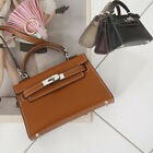 CELEBRITY CLASSIC MINI KELLY BELTED TOTE SHOULDER CROSS BAG PURSE FAUX LEATHER