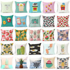18'' New Fruit style Cotton Linen Pillow Envelope Throw Cushion Cover Home Decor