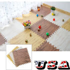 9-90 Imitation Wood Soft Foam Floor Mats Gym Exercise Garage Home Kids Play Pads