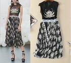 Christmas Occident runway fashion embroidery printing sexy pressure plait dress