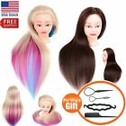 Salon Training Head Mannequin Cosmetology Human Hair Hairdressing Practice Wig