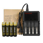 Garberiel 3.7V 6000mAh Rechargeable Li-ion 18650 Battery + US Charger Torch Lot