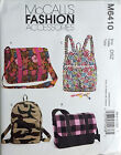 McCALL'S PATTERN BACKPACK 2 DESIGNS + TOTE HAND BAG PURSE 2 DESIGNS OSZ # M6410