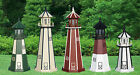 4-foot Outdoor Wooden Lighthouse w/ Electric Rotating Light - Various Choices
