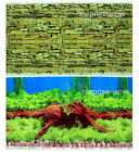 "Fish Tank Aquarium 20"" H Background 2 sided picture image wall Timber wall green"