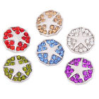 Alloy Round Buttons Star Rhinestone Charms Jewellery Snaps Buttons Fit 18mm