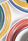 Lot 2 New DINNER PLATES CORELLE BRUSHED STROKES Red or Yellow Boutique Mandango