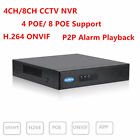 HD CCTV POE 8CH 4CH NVR H.264 Onvif HDMI 1 SATA HDD P2P Alarm Video Recorder