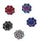 Wholesale Lots Rhinestone Flower Snaps Buttons Fit 18mm Jewelry Accessories