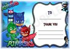 PJ Masks - A6 Thank You For Coming Party Cards x 12 - Landscape Frame Design