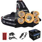 Outdoor 80000LM XM-L T6 LED Rechargeable Headlamp Head Light Torch+Charger