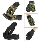 Men's Military Tactical Gloves Full Finger Shooting Hunting Motorcycle Gloves- L