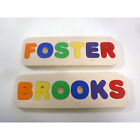 name puzzle wooden personalized childrens handcrafted