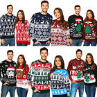New Unisex Men Women Santa Xmas Christmas Novelty Fairisle Retro Jumper Sweater
