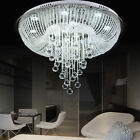 Luxury Clear Crystal & Glass Draping Flush Mount Ceiling Lighting Lamp Fixture