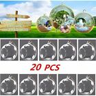 LOT 20PCS Hanging Glass Flowers Plant Vase Stand Holder Terrarium Container KN