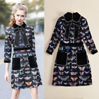 Occident new fashion bead butterfly Printed classical makings long sleeve dress