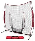 PowerNet 1001 Baseball Softball 7x7 ft Hitting Net with Bow Frame in Team Colors