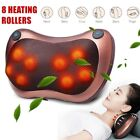 8 Kneading Head Neck Shoulder Back Massage Pillow Cushion Shiatsu Electric Heat