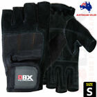Weight Lifting Gloves Gym Training Workout Body Building Velcro Straps XL