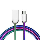 Super Tough Dreamy rainbow Data Cable Interface Reinforcement For iphone Android