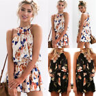UK 2PC Boho Womens Holiday Playsuit Tops Shorts Set Ladies Halter Beach Jumpsuit