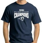 Los Angeles Rams 2017 NFC West Division Championship navy t shirt