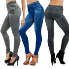 Autumn Winter Womens Leggings Jeans Pocket High Waist Leggins Denim Pants S-3XL