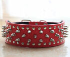 Dog Collars Leather Spiked Studded Dog Collars for Pit Bull Terrier Husky Boxer