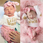 0-24 months baby clothes - 0-24M 3Pcs Newborn Infant baby girls Shirt+Pants Headband Outfit Baby Cute Cloth