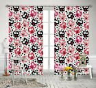 3D Cat Pattern Blockout Photo Curtain Printing Curtains Drapes Fabric Window AU