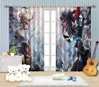 3D Game Roles 3 Blockout Photo Curtain Printing Curtains Drapes Fabric Window AU