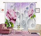 3D Flowers 3132 Blockout Photo Curtain Printing Curtains Drapes Fabric Window AU