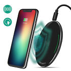 Qi Wireless Fast Charger Dock Charging Pad Mat for A pple i Phone X 10 8/8 Plus+
