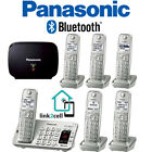 Panasonic Link2Cell Bluetooth Phone 6 Handsets + Repeater KX-TGE475S KX-TGEA40S