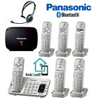 Panasonic Link2Cell Phone 6 Handsets Repeater Headset KX-TGE475S KX-TCA430