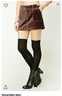 Forever 21 Velvet brown Mini Skirt summer beach