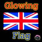 GLOWING Union Jack UK Flag Sticks to Car/House Window or can be Worn