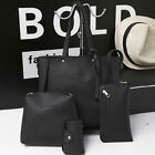 4psc   Hot   Sell    Women Leather Handbag Lady Shoulder Bags Tote Purse