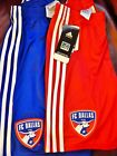 FC Dallas soccer Adidas shorts athletic MLS call up red blue