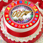 JAMES BOND 007 HAPPY BIRTHDAY 7.5 INCH PRECUT EDIBLE CAKE TOPPER DECORATION $3.6 USD on eBay