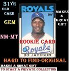 Bo Jackson Rookie Card Topps 1986-Trade Number 50-T