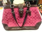 Authentic Coach Handbag brown leather & pink