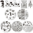 Nail Stamping Plates Valentine Series Rose Nicole Diary  Image Templates