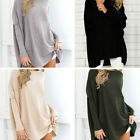 Women's Casual Long Sleeve Knitted Pullover Loose Sweater Jumper Tops Knitwear