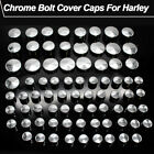 Chrome Bolts Topper Caps Cover Kit For Harley Davidson Dyna Touring Motorcycles $5.99 USD