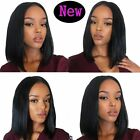 Short Bob Lace Front Wig 7A Brazilian Remy Human Hair Wigs for African American