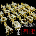 10K Real Yellow Gold Genuine Diamond Initial Letter Alphabet Mini Pendant Charm