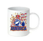 Coffee Cup Travel Mug 11 15 Oz Patriotic USA Statue Of Liberty America American